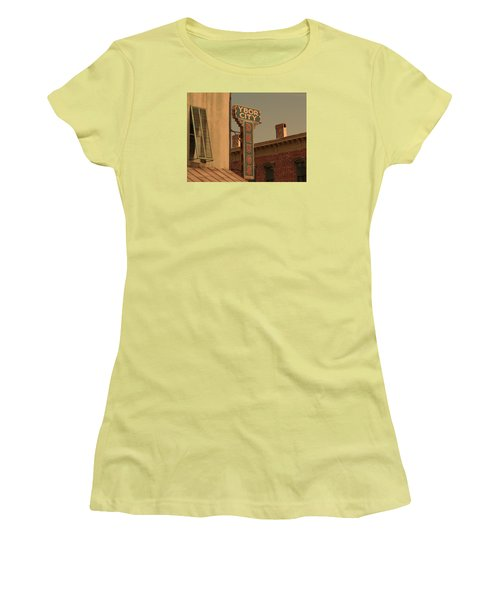 Ybor City Drugs Women's T-Shirt (Junior Cut) by Robert Youmans