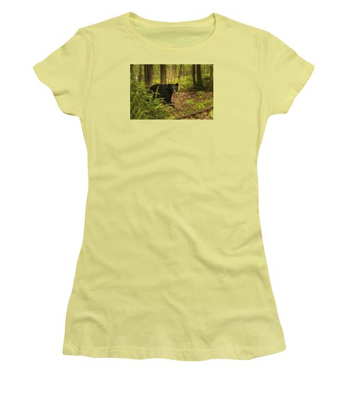 Yearling Black Bear Women's T-Shirt (Athletic Fit)