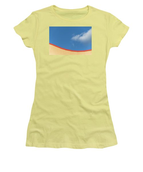 Yellow And Blue - Women's T-Shirt (Athletic Fit)