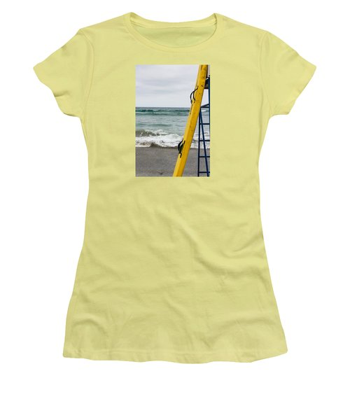 Yellow At The Ready Women's T-Shirt (Athletic Fit)