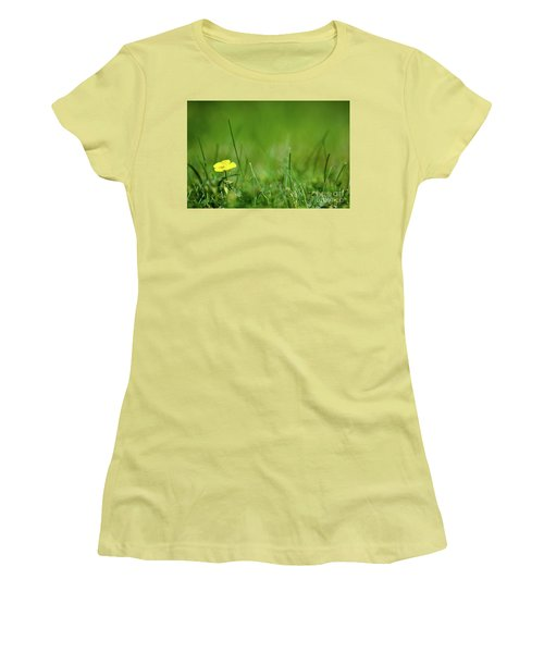 Women's T-Shirt (Athletic Fit) featuring the photograph Yellow Beauty by Kennerth and Birgitta Kullman