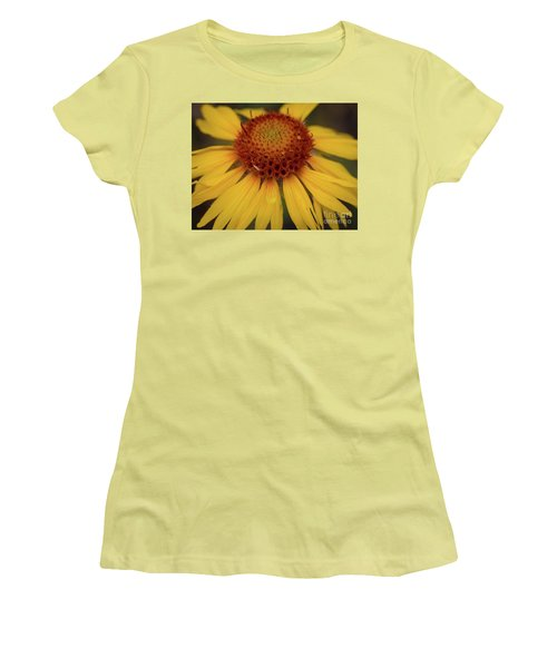 Yellow Cone Flower Women's T-Shirt (Athletic Fit)