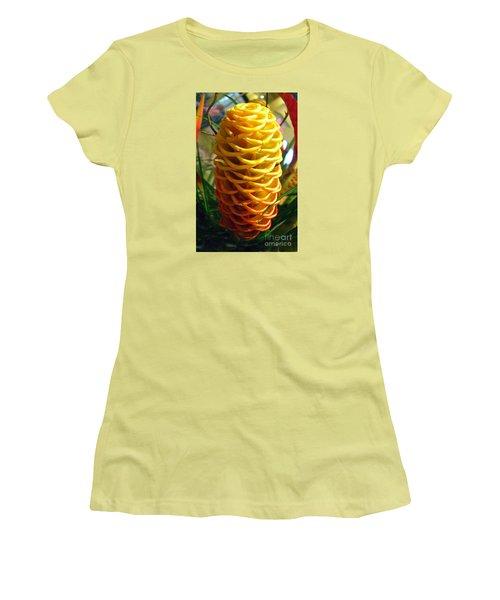Women's T-Shirt (Junior Cut) featuring the photograph Yellow Cone Flower No. 2 by Merton Allen