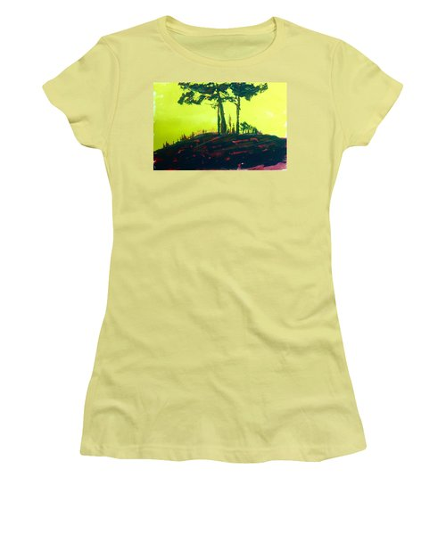 Yellow Dusk Women's T-Shirt (Athletic Fit)