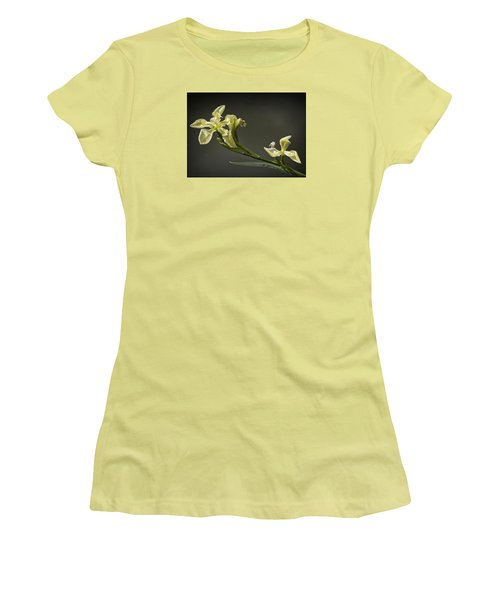 Women's T-Shirt (Junior Cut) featuring the photograph Yellow Iris by Shirley Mitchell