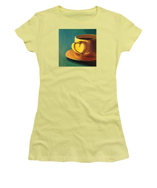 Yellow Java Women's T-Shirt (Junior Cut) by Nathan Rhoads