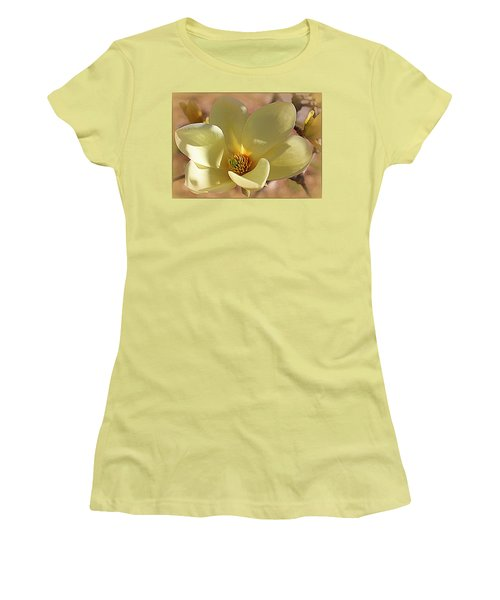 Yellow Magnolia In Full Bloom Women's T-Shirt (Athletic Fit)