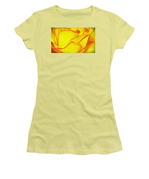 Yellow Rose Abstract Women's T-Shirt (Athletic Fit)