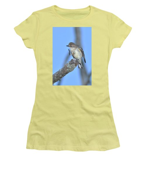 Yellow-rumped Warbler Itch Women's T-Shirt (Athletic Fit)