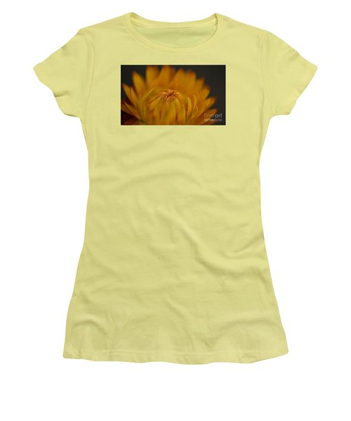 Yellow Strawflower Blossom Close-up Women's T-Shirt (Athletic Fit)