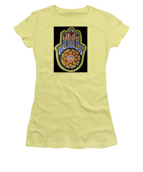 Yellow Sun Women's T-Shirt (Junior Cut) by Patricia Arroyo
