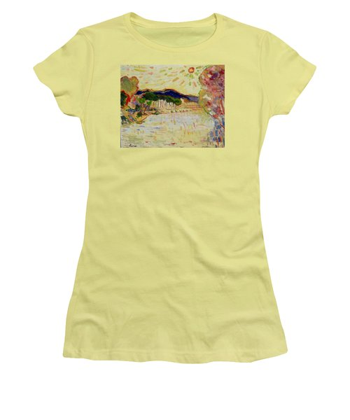 Beynac Et Cazenac , Dordogne , Yellow Sunshine  Women's T-Shirt (Athletic Fit)
