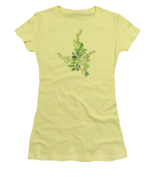 Yellow Tiny Flowers Women's T-Shirt (Junior Cut) by Ivana Westin