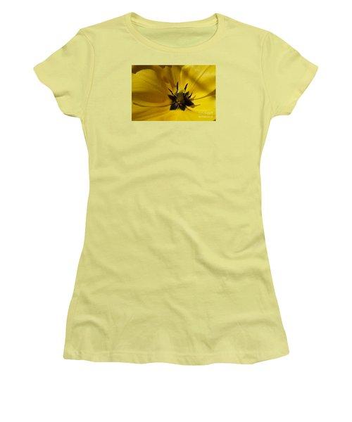 Yellow Tulip 1 Women's T-Shirt (Junior Cut) by Jean Bernard Roussilhe