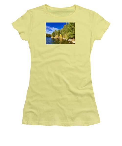 Golden Waters Women's T-Shirt (Junior Cut) by Jennifer Lake