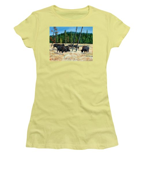 Yellowstone Grazers Women's T-Shirt (Athletic Fit)
