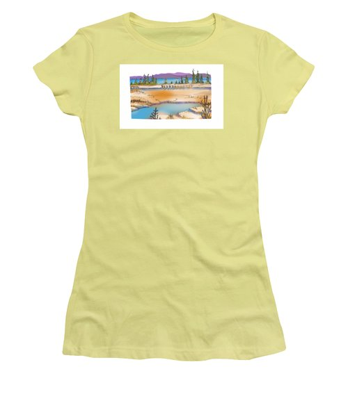 Yellowstone Women's T-Shirt (Junior Cut) by Kathryn Launey