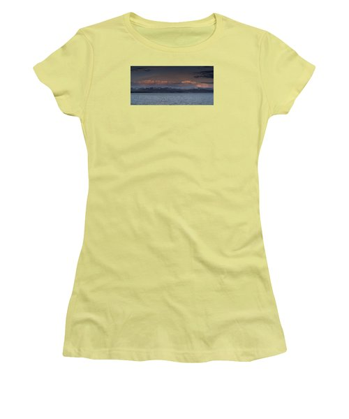 Yellowstone Lake At Sunset Women's T-Shirt (Athletic Fit)