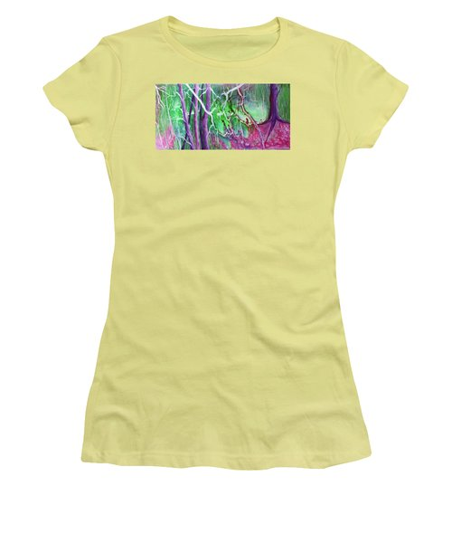 Women's T-Shirt (Junior Cut) featuring the painting Yesterday's Dream by Susan DeLain