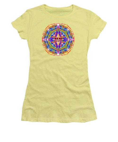 Yhwh Mandala 3 18 17 Women's T-Shirt (Athletic Fit)