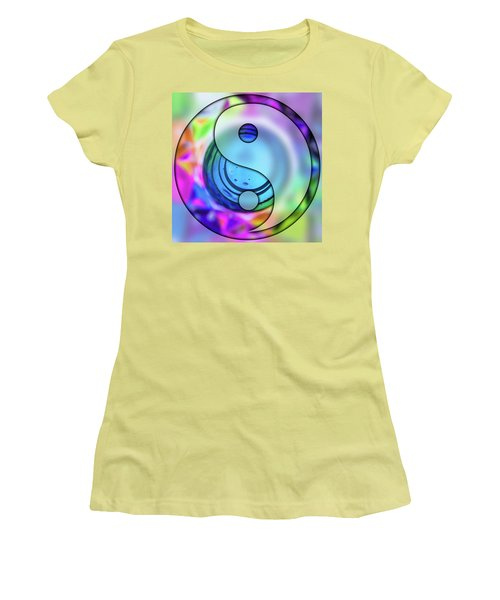 Yin And Tang In Purple  Women's T-Shirt (Athletic Fit)