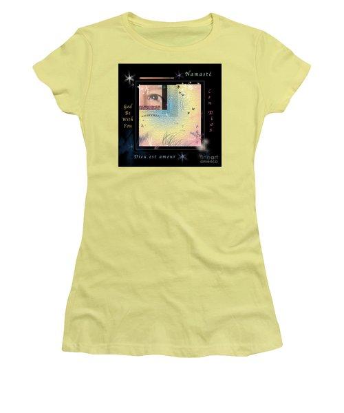 Women's T-Shirt (Junior Cut) featuring the photograph Yoga Creativity And Awareness by Felipe Adan Lerma