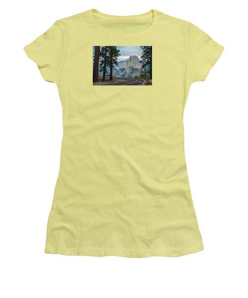Yosemite Glacier Point Women's T-Shirt (Junior Cut) by Jonas Wehbrink