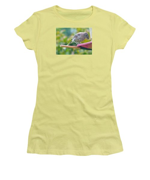 Young Crossbill Female  August  Indiana Women's T-Shirt (Junior Cut)