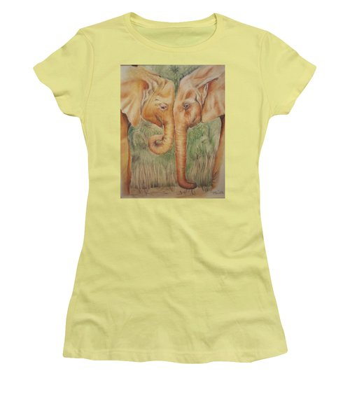 Young Elephants Women's T-Shirt (Athletic Fit)