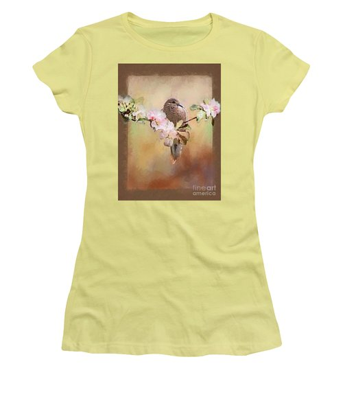 Young Morning Dove Women's T-Shirt (Junior Cut) by Suzanne Handel