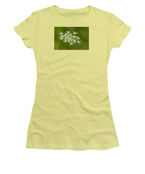 Women's T-Shirt (Junior Cut) featuring the photograph Young Queen Anne's Lace  by Lyle Crump
