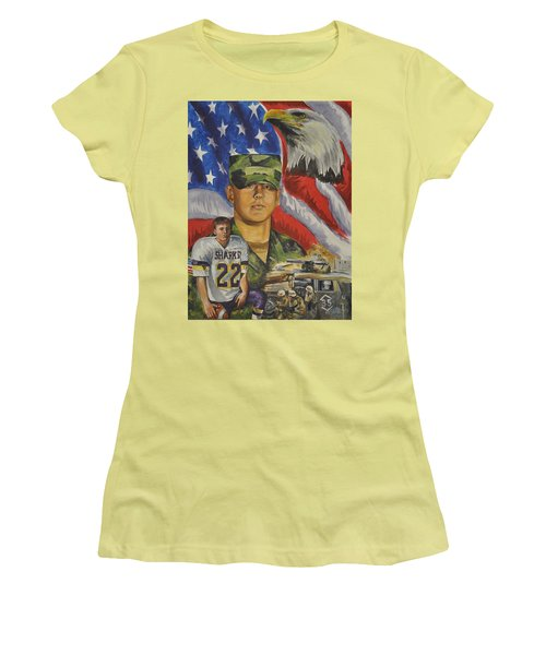Young Warrior Women's T-Shirt (Junior Cut) by Ken Pridgeon