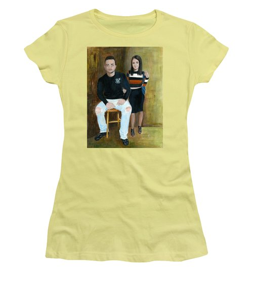 Youth And Beauty - Painting Women's T-Shirt (Athletic Fit)