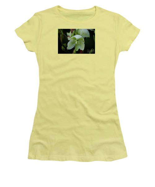 Women's T-Shirt (Junior Cut) featuring the photograph Yucca by Randy Bodkins