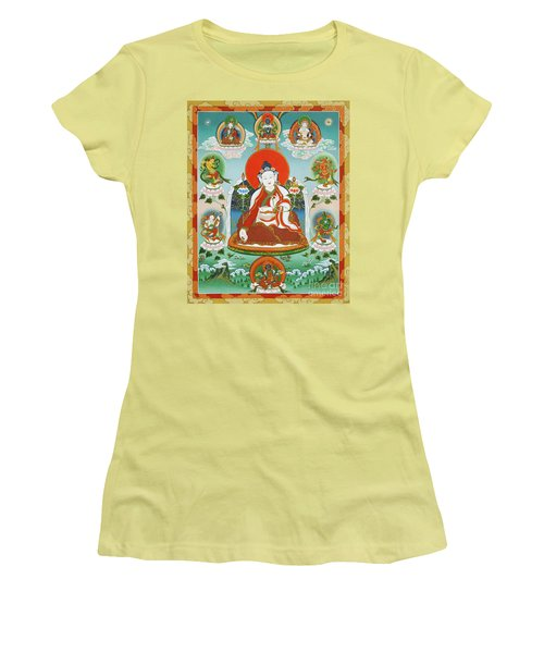 Yuthok Bumseng With Retinue Women's T-Shirt (Junior Cut) by Sergey Noskov