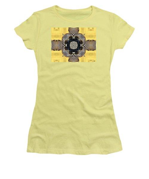 Zebra Cross Women's T-Shirt (Junior Cut) by Maria Watt