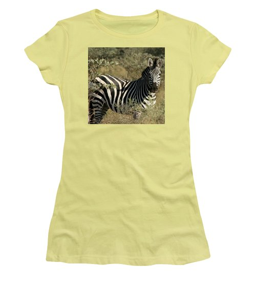 Zebra Portrait Women's T-Shirt (Athletic Fit)
