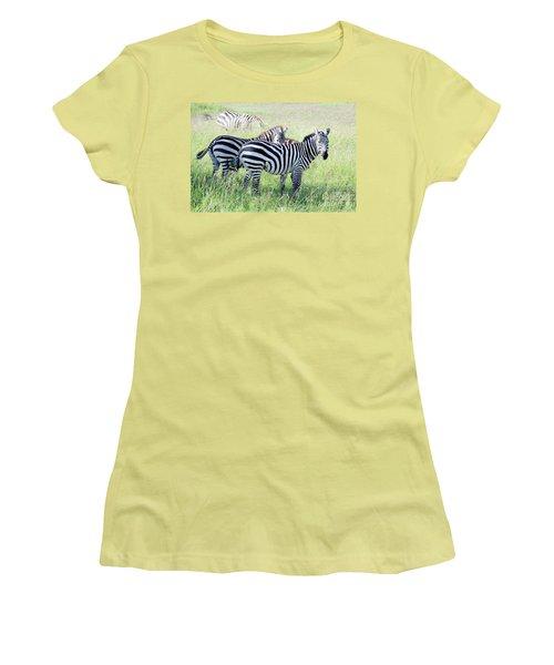 Zebras In Serengeti Women's T-Shirt (Athletic Fit)