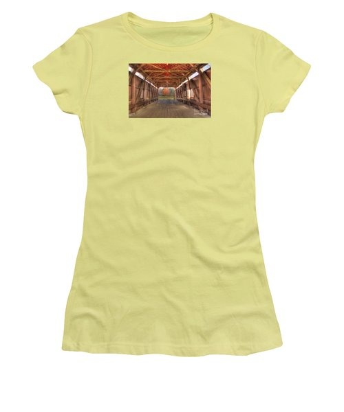 Sycamore Park Covered Bridge Women's T-Shirt (Athletic Fit)