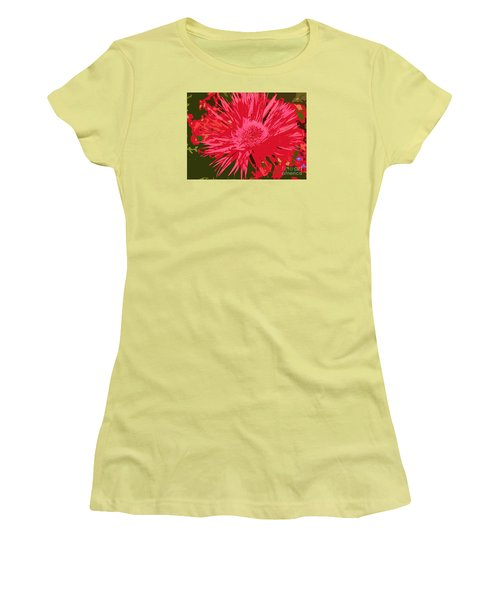 Women's T-Shirt (Junior Cut) featuring the photograph Zinnia Party by Jeanette French
