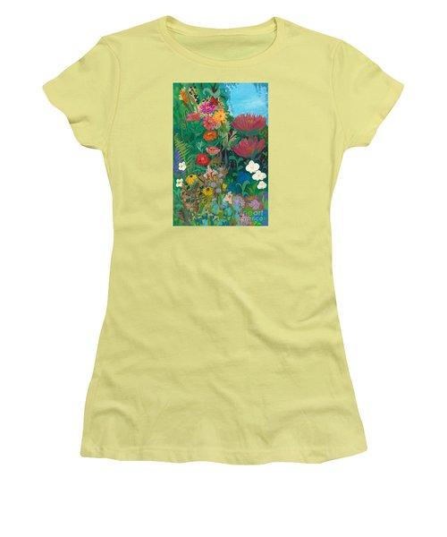 Zinnias Garden Women's T-Shirt (Athletic Fit)