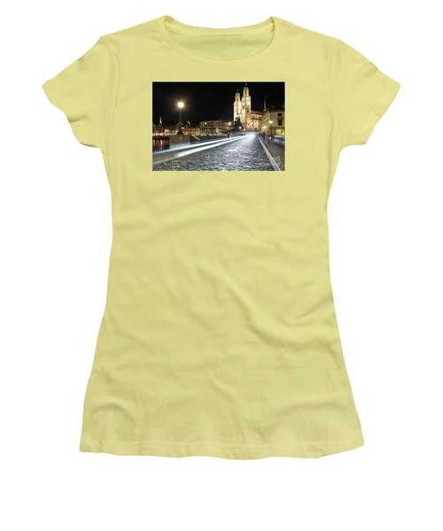 Zurich Night Rush In Old Town Women's T-Shirt (Athletic Fit)