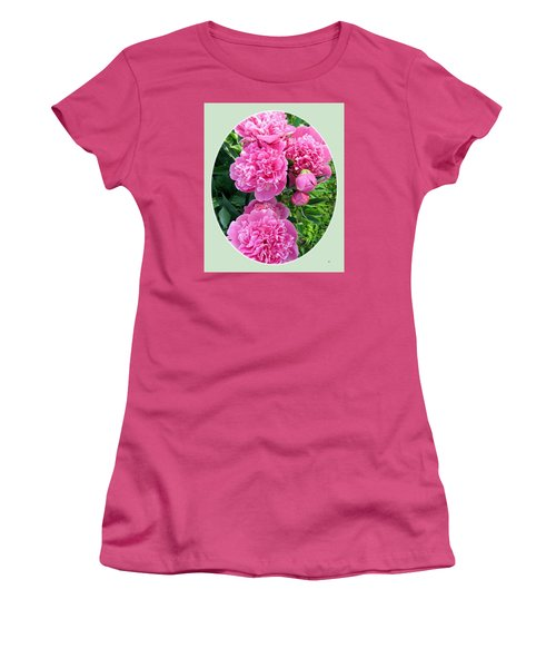 Country Peonies Women's T-Shirt (Junior Cut) by Will Borden