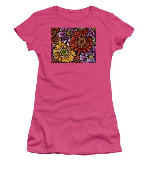 Happy Women's T-Shirt (Junior Cut) by Linda Simon