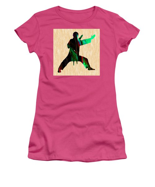 Martial Arts Karate Women's T-Shirt (Junior Cut) by Marvin Blaine