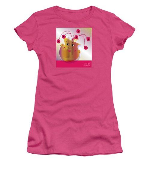 Happy Dance Women's T-Shirt (Junior Cut) by Iris Gelbart