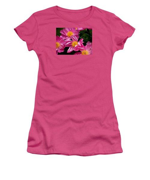 Pink Petals Women's T-Shirt (Junior Cut) by Eunice Miller