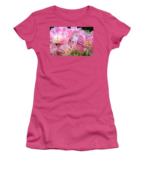 A Crowd Of Tulips Women's T-Shirt (Junior Cut) by Byron Varvarigos