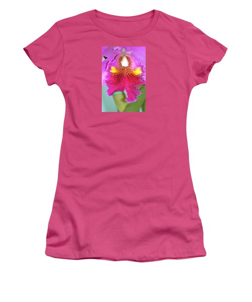 Women's T-Shirt (Junior Cut) featuring the photograph A Purple Cattelaya  Orchid by Lehua Pekelo-Stearns