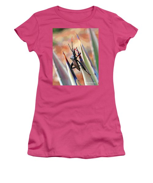 Women's T-Shirt (Junior Cut) featuring the photograph Agave Bug  by Tom Janca